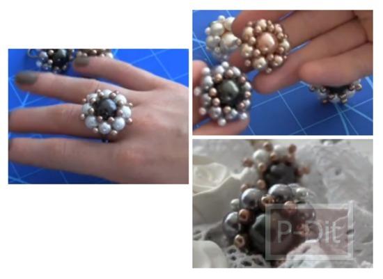 รูป 1 ทำแหวนดอกไม้ สำหรับตกแต่งสวยๆ