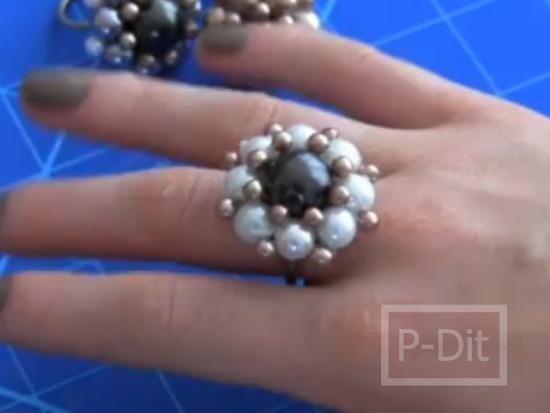 รูป 2 ทำแหวนดอกไม้ สำหรับตกแต่งสวยๆ