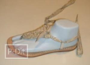 สอนร้อยเชือกรองเท้ารัดส้น สำหรับผู้หญิง