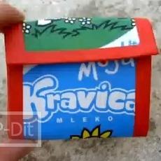 สอนทำกระเป๋าเงินเหรียญ จากกล่องนม