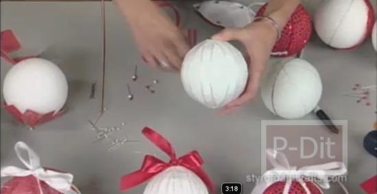 รูป 6 สอนทำลูกตุ้ม สำหรับประดับวันคริสตมาส