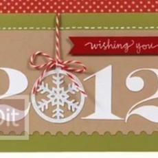 สอนทำการ์ดสวยๆ วันปีใหม่ 2012(2555)