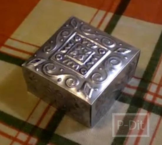 รูป 4 สอนทำกล่องสวยๆ จากกระป๋องน้ำอัดลม-เบียร์