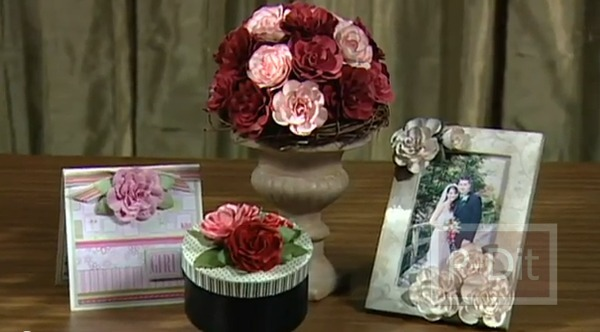 รูป 1 สอนทำดอกกุหลาบ สำหรับตกแต่ง แจกัน กรอบรูป…