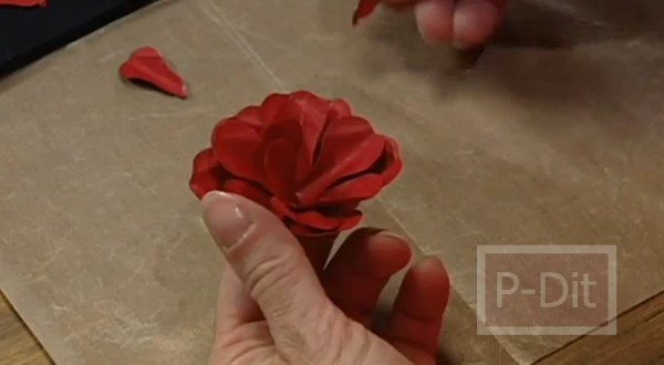 รูป 6 สอนทำดอกกุหลาบ สำหรับตกแต่ง แจกัน กรอบรูป…