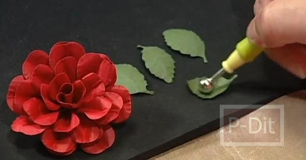 รูป 7 สอนทำดอกกุหลาบ สำหรับตกแต่ง แจกัน กรอบรูป…