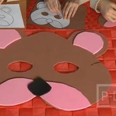 สอนทำหน้ากากรูปหมี