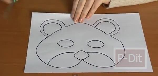 รูป 3 สอนทำหน้ากากรูปหมี