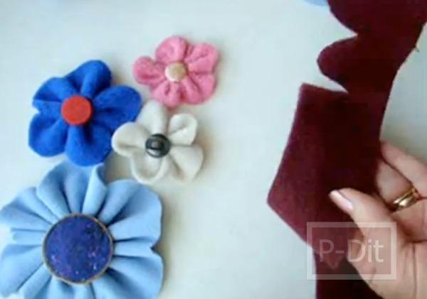 รูป 3 ดอกไม้ผ้า