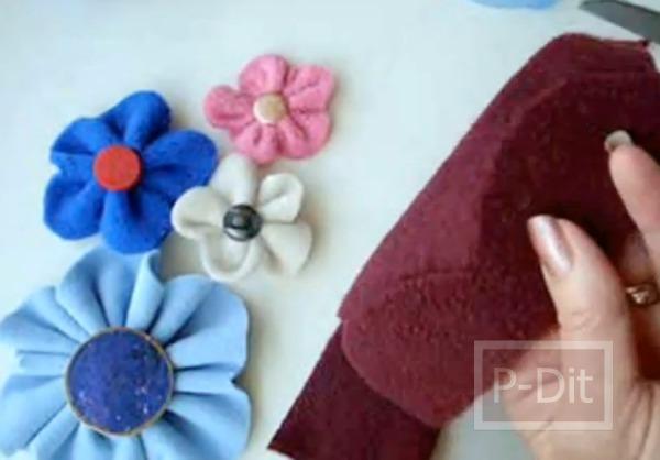 รูป 4 ดอกไม้ผ้า