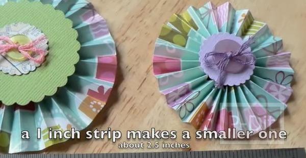 รูป 1 สอนทำดอกไม้กระดุม ทำจากกระดาษ