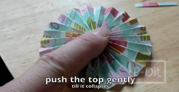 รูป 4 สอนทำดอกไม้กระดุม ทำจากกระดาษ