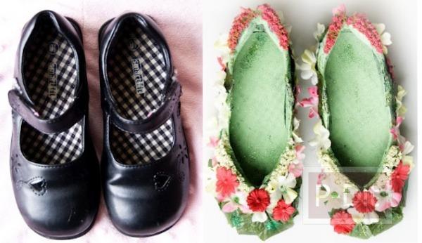 ทำรองเท้าแฟร์รี่ จากรองเท้านักเรียน