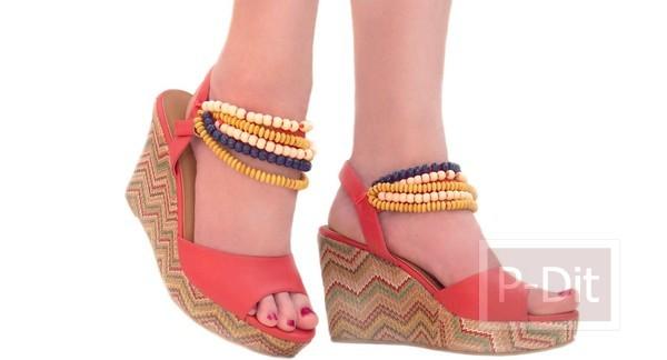 ไอเดีย ตกแต่งรองเท้าคู่สวย
