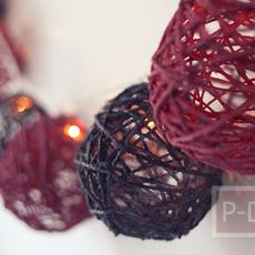 ไอเดียทำลูกบอลโปร่งแสง ร้อยแขวนโชว์ไฟสวยๆ