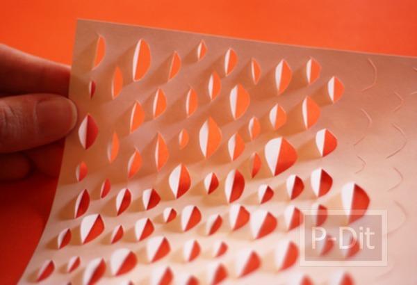 รูป 3 ตกแต่งแก้วเทียน โคมไฟ ด้วยกระดาษ