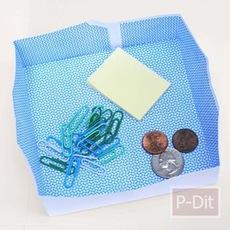 วิธีพับกล่องใส่เงินเหรียญ คลิปหนีบกระดาษ