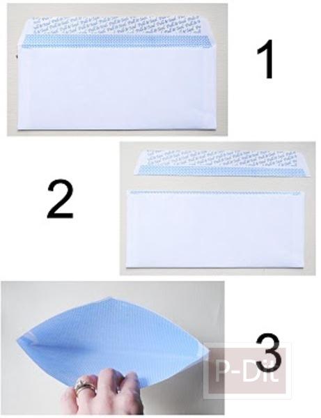 รูป 2 วิธีพับกล่องใส่เงินเหรียญ คลิปหนีบกระดาษ