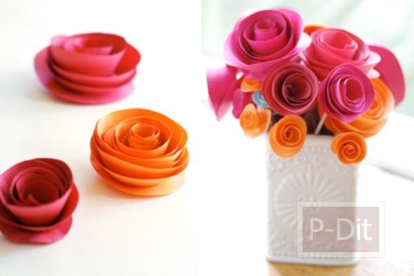 รูป 1 สอนทำดอกไม้กระดาษ สำหรับตกแต่ง