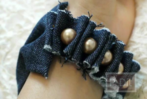 รูป 2 ทำสร้อยข้อมือ จากขากางเกงยีนส์