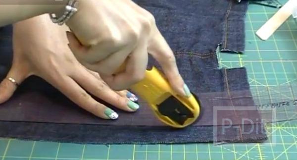 รูป 5 ทำสร้อยข้อมือ จากขากางเกงยีนส์