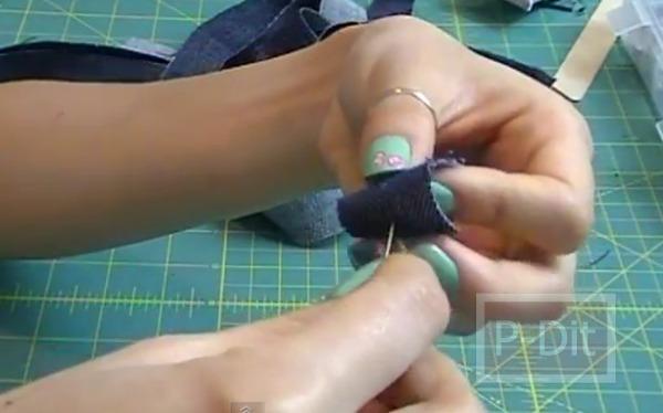 รูป 7 ทำสร้อยข้อมือ จากขากางเกงยีนส์