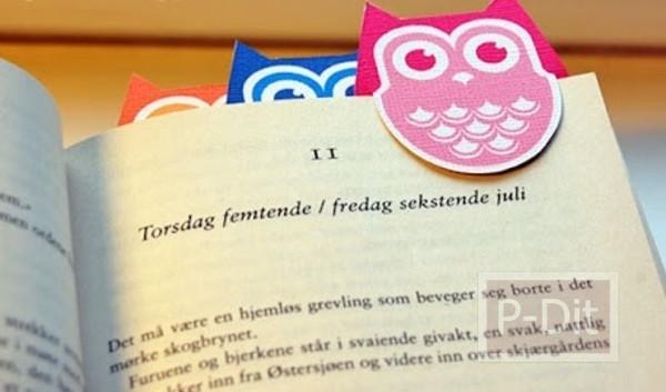 รูป 2 ที่คั่นหนังสือ นกฮูก