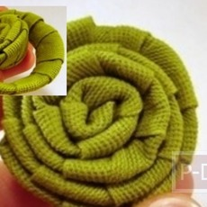 ไอเดียทำดอกกุหลาบ จากกระดาษหุ้มผ้า
