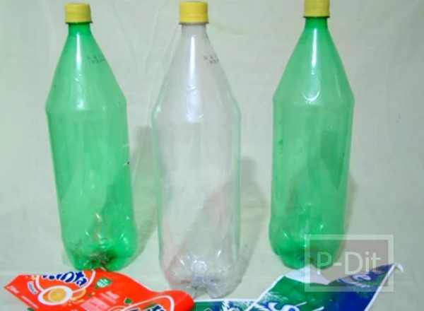 รูป 3 ทำที่ใส่อาหารสัตว์ จากขวดน้ำดื่ม