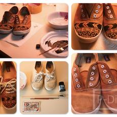 รองเท้าผ้าใบคู่เก่า นำมาตกแต่งให้ใหม่ น่าสวมใส่