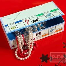 ทำกล่องเก็บของ จากบอร์ดของเล่น เกมเศรษฐีแบบเก่า