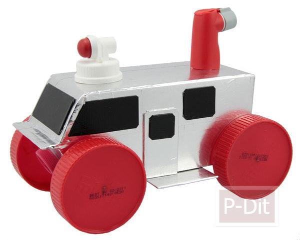 รูป 7 ทำรถของเล่น จากกล่องนม