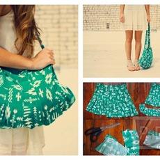 ทำกระเป๋าสะพาย จากกระโปรงสั้น สีสวย