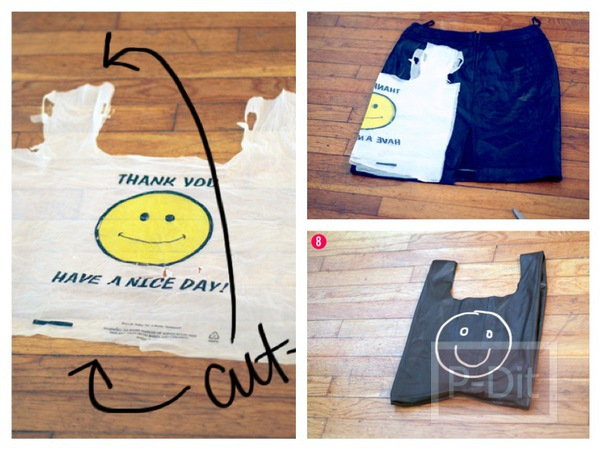รูป 1 ทำถุงจ่ายตลาด จากกระโปรงเก่า