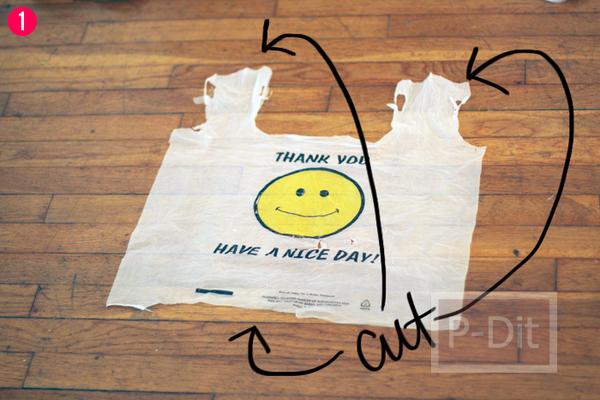 รูป 2 ทำถุงจ่ายตลาด จากกระโปรงเก่า