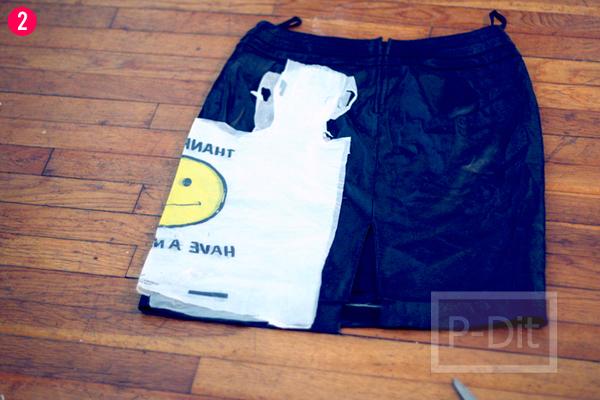 รูป 3 ทำถุงจ่ายตลาด จากกระโปรงเก่า