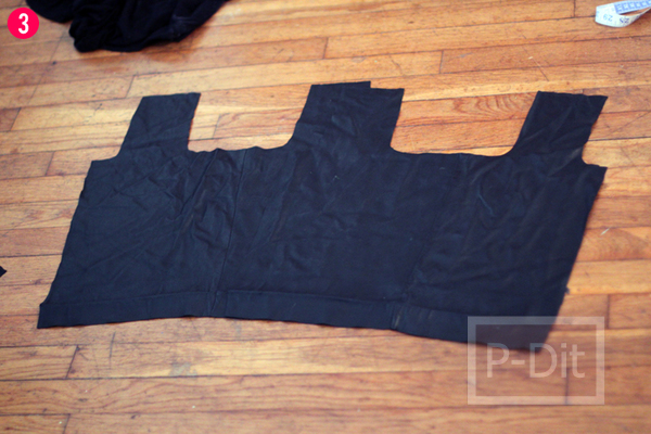 รูป 4 ทำถุงจ่ายตลาด จากกระโปรงเก่า