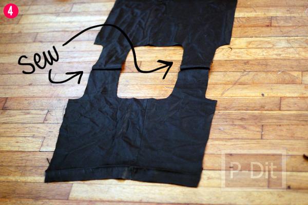 รูป 5 ทำถุงจ่ายตลาด จากกระโปรงเก่า