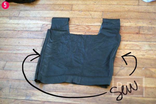 รูป 6 ทำถุงจ่ายตลาด จากกระโปรงเก่า
