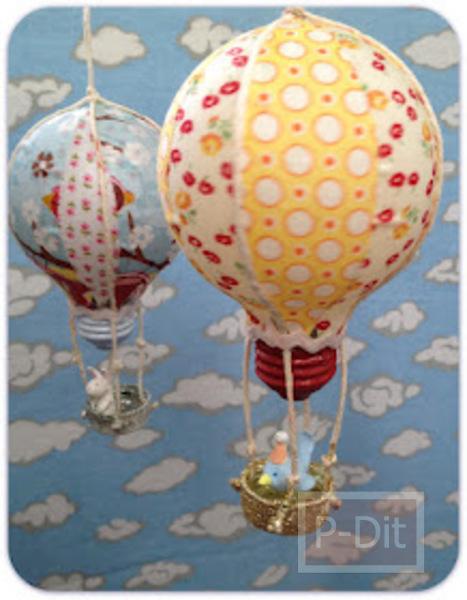 รูป 2 ทำบอลลูน จากหลอดไฟเก่า