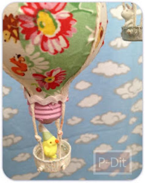 รูป 4 ทำบอลลูน จากหลอดไฟเก่า