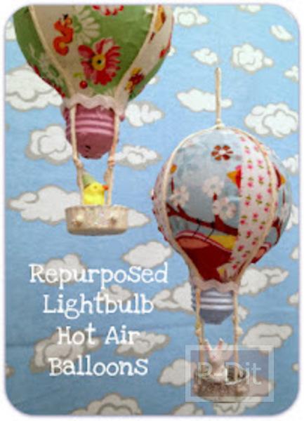 รูป 5 ทำบอลลูน จากหลอดไฟเก่า