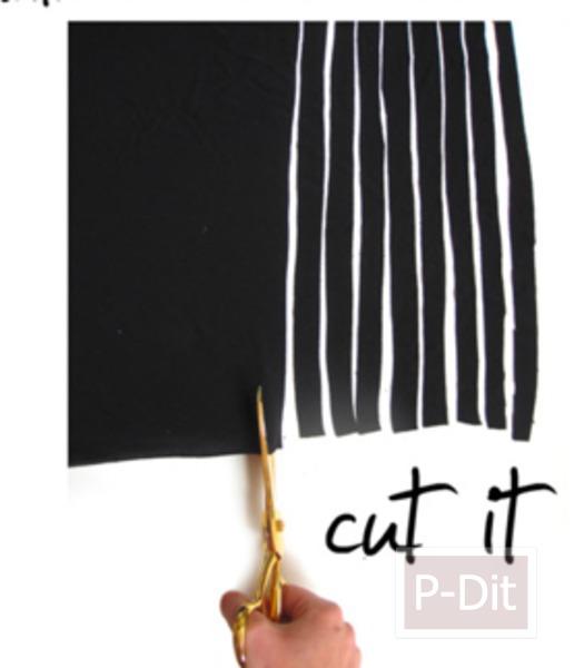 รูป 3 ทำเครื่องสร้อยคอ จากผ้ายืด