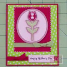 ไอเดียทำการ์ด วันแม่รูปดอกไม้