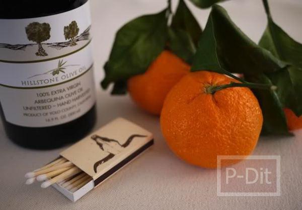 รูป 2 ทำเทียน กลิ่นส้ม จากผลส้ม