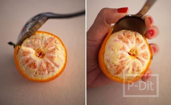 รูป 3 ทำเทียน กลิ่นส้ม จากผลส้ม