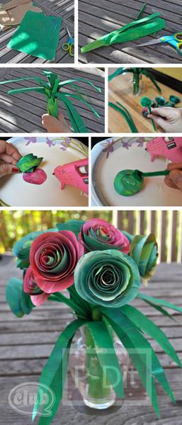 รูป 2 ทำดอกกุหลาบ จากถุงกระดาษ