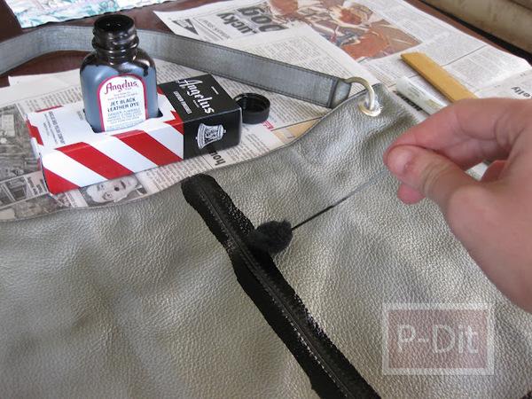 รูป 5 เปลี่ยนกระเป๋าเก่า ให้เป็นกระเป๋าสีใหม่