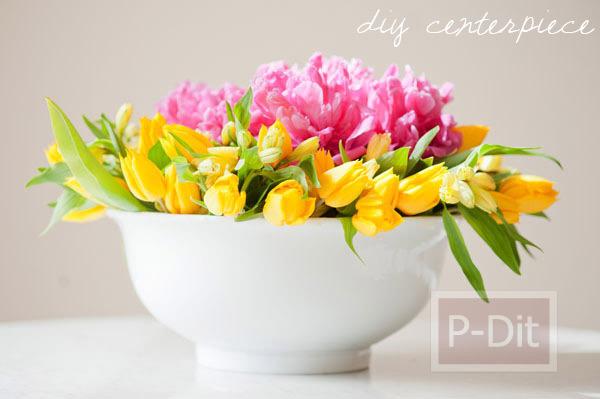 รูป 6 สอนจัดดอกไม้ ในชามปากกว้าง