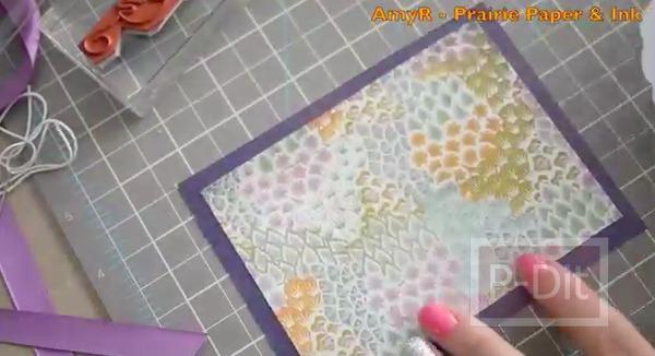 รูป 3 ไอเดียตกแต่ง การ์ดวันแม่ สีม่วง สวยๆ